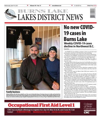 Burns Lake Lakes District News, April 14, 2021