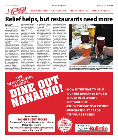Dine Out Nanaimo - April 14, 2021