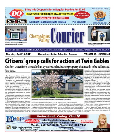 Chemainus Valley Courier, April 15, 2021