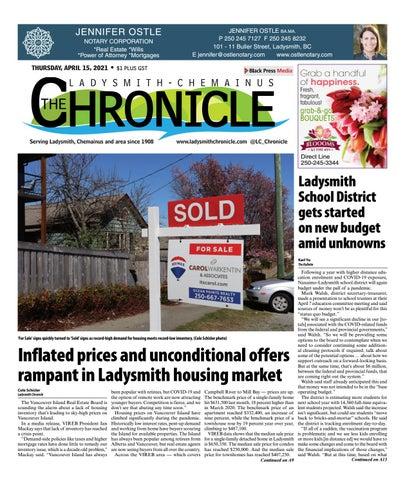 Ladysmith Chronicle, April 15, 2021