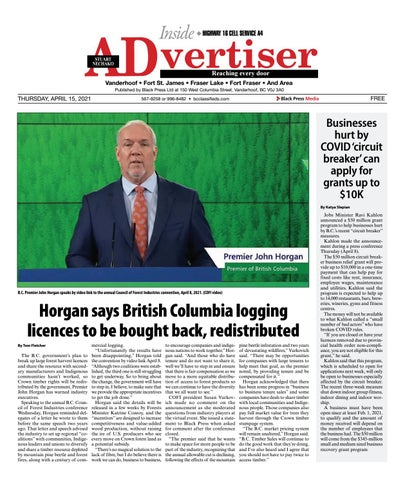 Vanderhoof Omineca Express/Stuart Nechako Advertiser, April 15, 2021