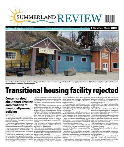 Summerland Review, April 15, 2021