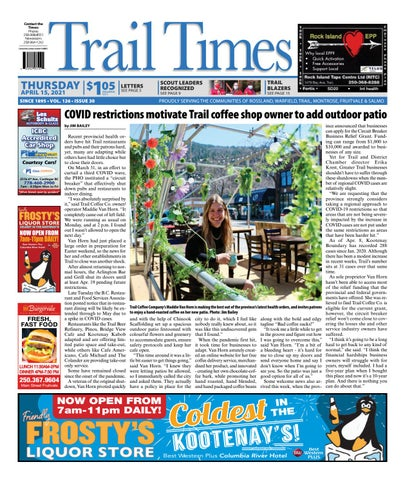 Trail Daily Times/West Kootenay Advertiser, April 15, 2021