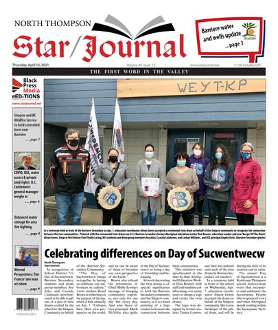 Barriere Star Journal, April 15, 2021