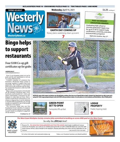 Tofino-Ucluelet Westerly News, April 14, 2021