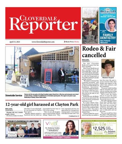 Cloverdale Reporter, April 15, 2021