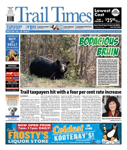 Trail Daily Times/West Kootenay Advertiser, April 20, 2021