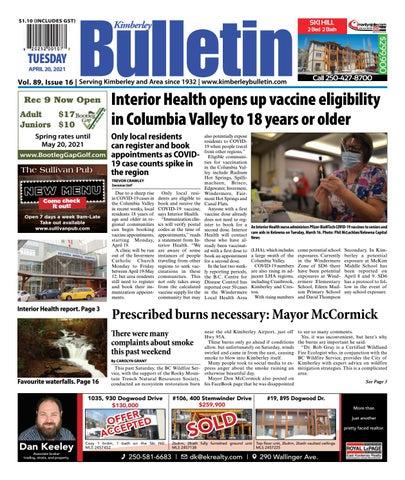 Kimberley Daily Bulletin, April 20, 2021