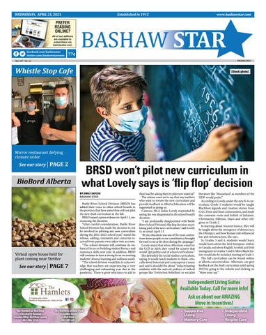 Bashaw Star, April 21, 2021