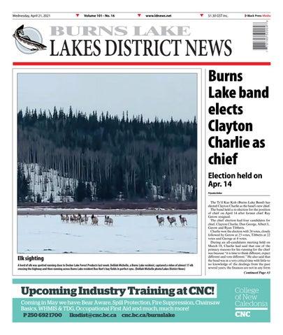 Burns Lake Lakes District News, April 21, 2021