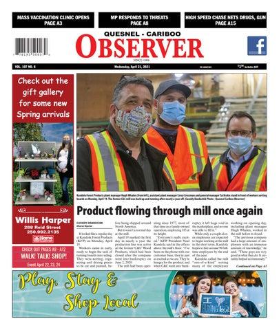 Quesnel Cariboo Observer, April 21, 2021