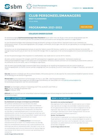 SBM Club personeelsmanagers 2021-2022