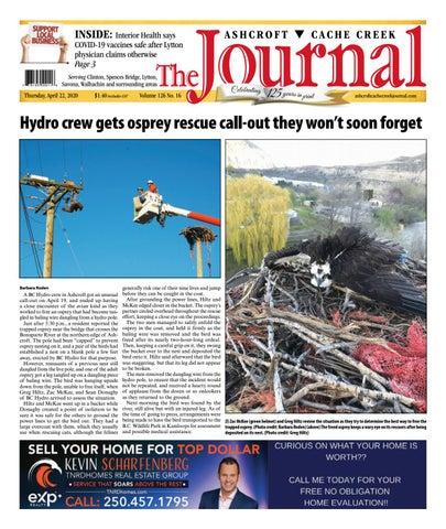 Ashcroft Cache Creek Journal, April 22, 2021