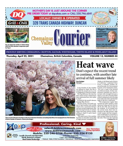 Chemainus Valley Courier, April 22, 2021