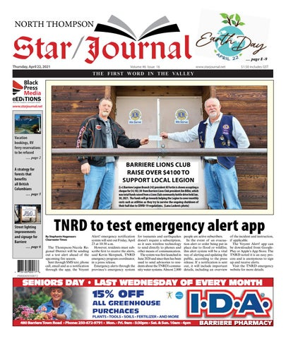 Barriere Star Journal, April 22, 2021