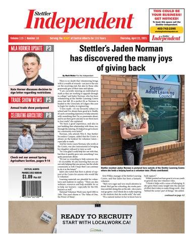 Stettler Independent, April 22, 2021