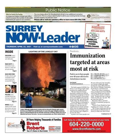 Surrey Now Leader, April 22, 2021