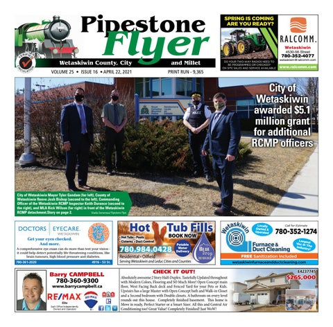Wetaskiwin/Millet Pipestone Flyer, April 22, 2021