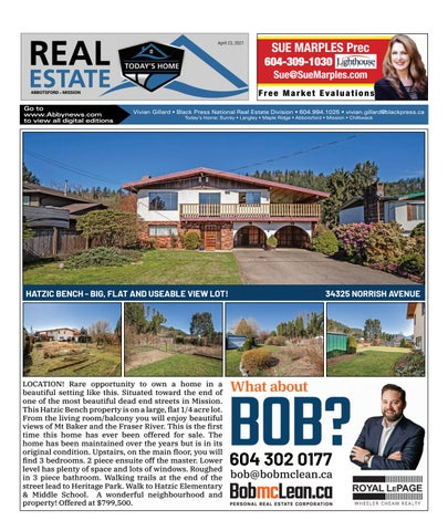 April 23, 2021 Real Estate Weekly - Abbotsford