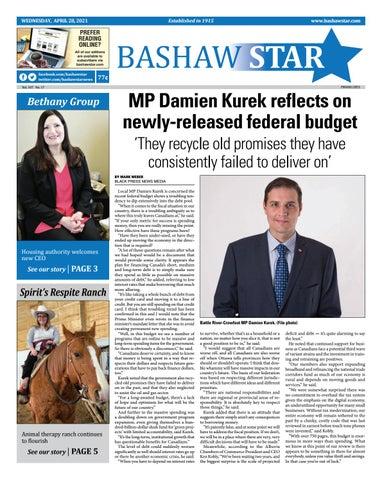 Bashaw Star, April 28, 2021