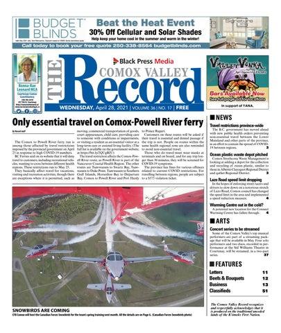 Comox Valley Record, April 28, 2021