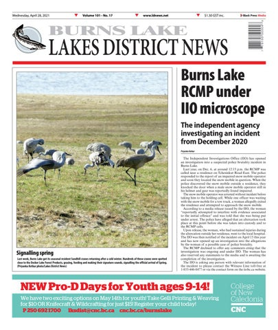 Burns Lake Lakes District News, April 28, 2021