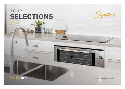 SJD Homes Signature Range Selection Manual