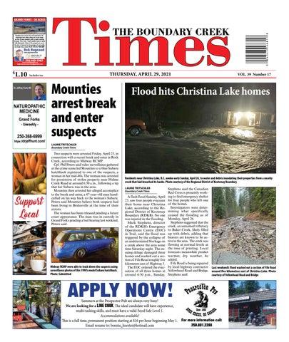 Boundary Creek Times, April 29, 2021