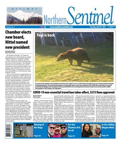 Kitimat Northern Sentinel/Northern Connector, April 29, 2021