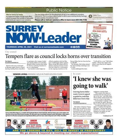 Surrey Now Leader, April 29, 2021