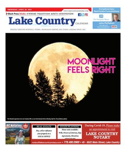 Lake Country Calendar, April 29, 2021