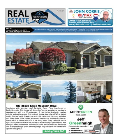 April 30, 2021 Real Estate Weekly - Abbotsford