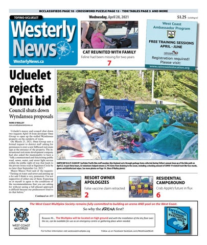 Tofino-Ucluelet Westerly News, April 28, 2021