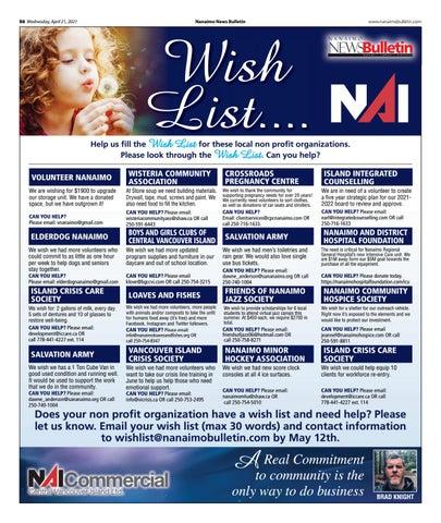 Wish List - April 21, 2021