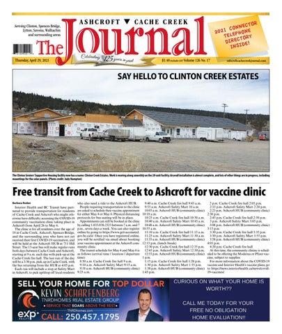 Ashcroft Cache Creek Journal, April 29, 2021