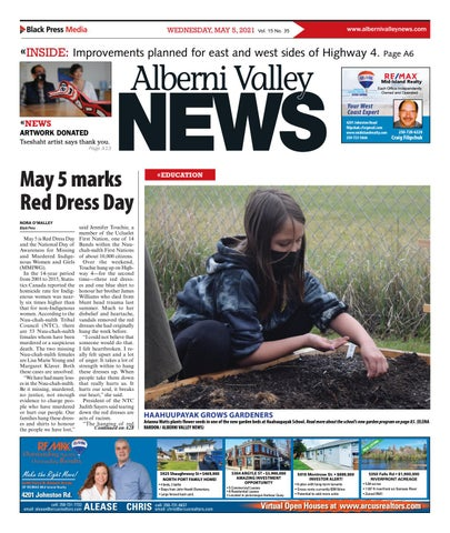 Alberni Valley News, May 5, 2021