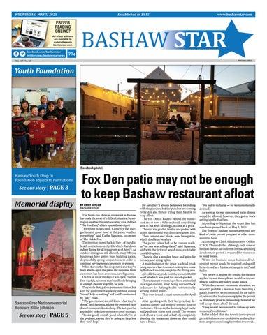 Bashaw Star, May 5, 2021