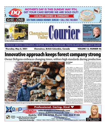 Chemainus Valley Courier, May 6, 2021