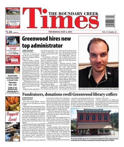 Boundary Creek Times, May 6, 2021