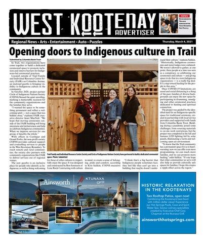 Castlegar News/West Kootenay Advertiser, May 6, 2021