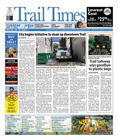 Trail Daily Times/West Kootenay Advertiser, May 11, 2021