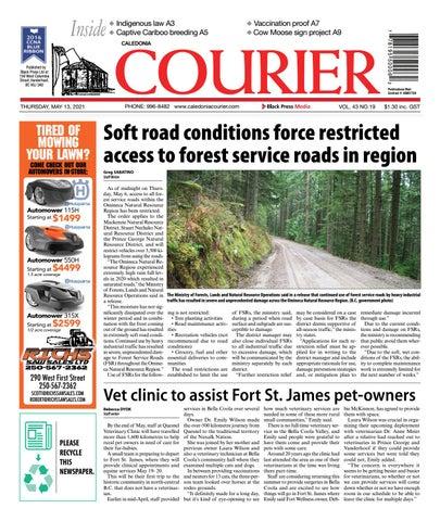 Caledonia Courier/Stuart Nechako Advertiser, May 13, 2021