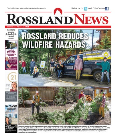 Rossland News/West Kootenay Advertiser, May 13, 2021