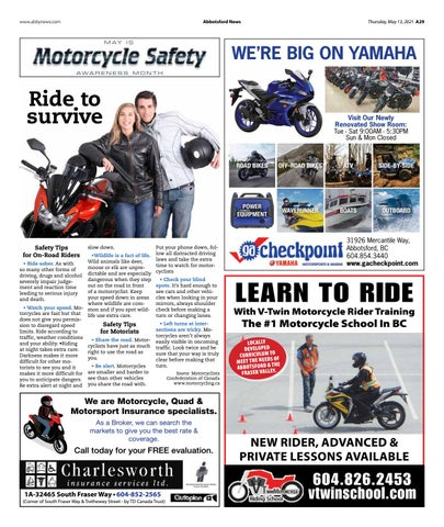 Motorcycle Safety Awareness Month 2021