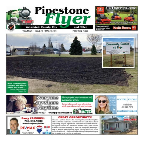 Wetaskiwin/Millet Pipestone Flyer, May 20, 2021