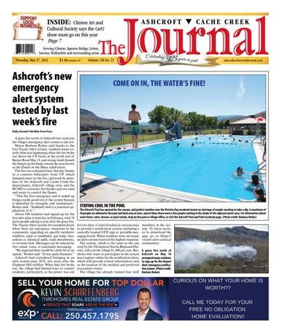Ashcroft Cache Creek Journal, May 27, 2021