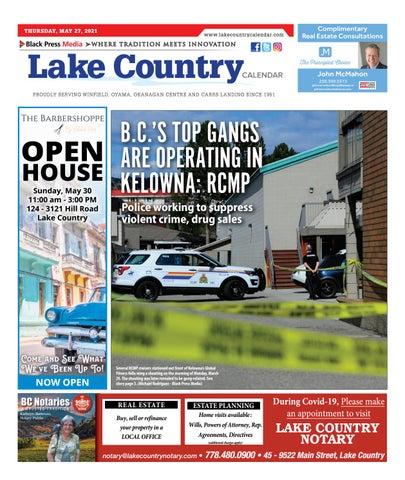 Lake Country Calendar, May 27, 2021