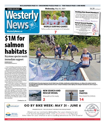 Tofino-Ucluelet Westerly News, May 26, 2021