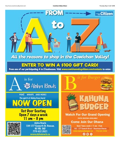A to Z in the Cowichan Valley - May 27, 2021