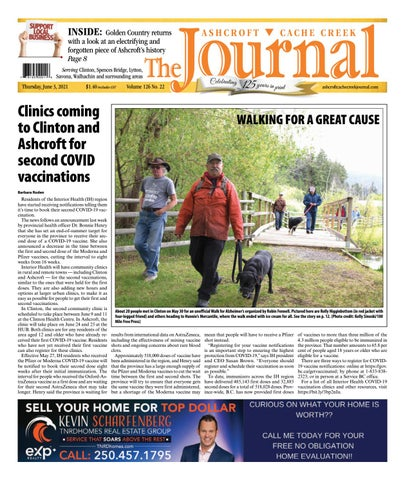 Ashcroft Cache Creek Journal, June 3, 2021